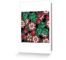 Wild rose flower and blossom Greeting Card