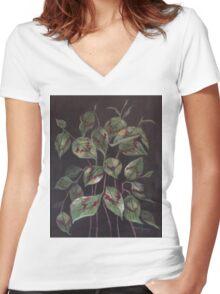 'Painter's Palette' Women's Fitted V-Neck T-Shirt
