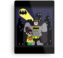 Wreck it Batman! (Black Suit) Metal Print