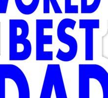 World's Best Dad! Father's Day Gift.  Sticker