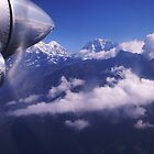 FLYING INTO LUKLA FROM KATHMANDU by Betsy  Seeton