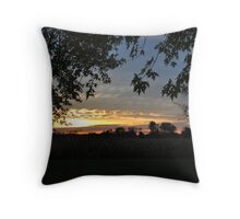 Selma Country Sunrise 10/22/09 Throw Pillow