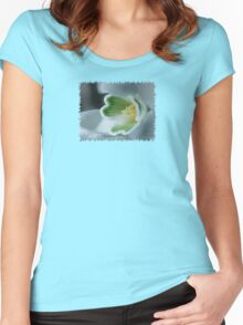 Found a SnowDrop in my Garden Today  - JUSTART © Women's Fitted Scoop T-Shirt