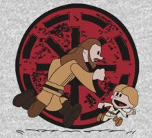 Lets Be Jedi (Qui Gon & Anakin EP1) One Piece - Long Sleeve