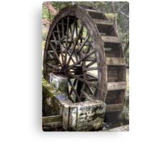 Topaz Mill Waterwheel Metal Print