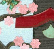 Zen Birdhouse and Blossoms Sticker