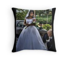 The Bride & Father Throw Pillow