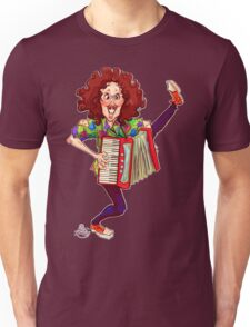 Alfred (Weird Al) Yankovic and Harvey the Wonder Hamster Unisex T-Shirt