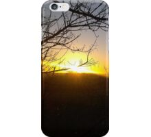 Winter Sunset in England iPhone Case/Skin