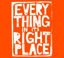 Everything in Its Right Place - Radiohead Kids Tee