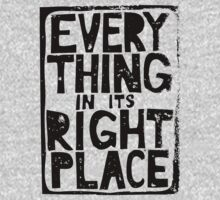 Everything in Its Right Place - Radiohead One Piece - Long Sleeve