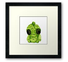 Lil Green Monster Framed Print