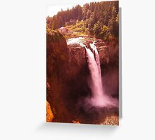 Red Snoqualmie Falls, Washington Greeting Card
