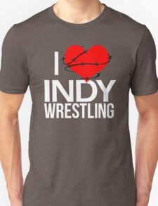 """I Love Indy Wrestling"" Unisex T-Shirt"