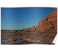 Landscape: Windang Island Rock Formations Poster