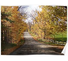 Autumn Country Road..continued Poster