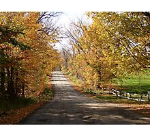 Autumn Country Road..continued Photographic Print