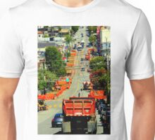 There Goes The Neighborhood In Orange Unisex T-Shirt