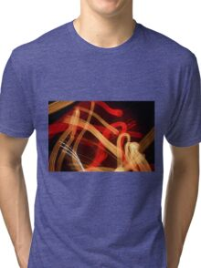 A Stroll at Night with Music Tri-blend T-Shirt