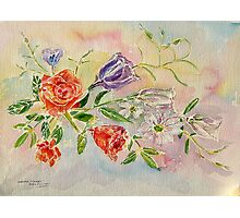 Weekend Flowers Photographic Print