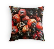 The life of red berries Throw Pillow