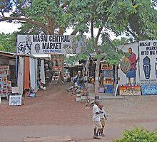 Masai Central Market,Tanzania, Africa by Adrian Paul
