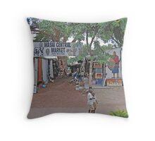 Masai Central Market,Tanzania, Africa Throw Pillow