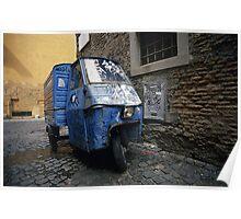 Three-wheeler, Trastevere, Rome (Italy)  Poster