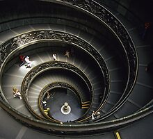 Spiral Staircase at Vatican Museum by Petr Svarc