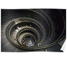 Spiral Staircase at Vatican Museum Poster