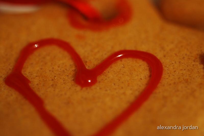 Heart cookie by alexandra jordan