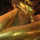 Reclining Buddha at Wat Pho Temple in Bangkok, Thailand  by Petr Svarc