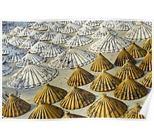 Yellow and White Saa-Paper Umbrellas (Thailand)  Poster