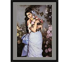 Amy Winehouse in a Rose Garden  Photographic Print