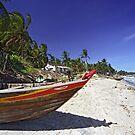 Fishing Boat on White-sand Beach (Vietnam) by Petr Svarc