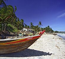 Fishing Boat on White-sand Beach (Vietnam) by Petr Svarc