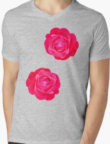 Two pink roses Mens V-Neck T-Shirt