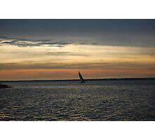 Dusk Sailing Photographic Print