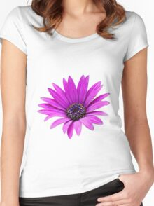 Purple daisy Women's Fitted Scoop T-Shirt