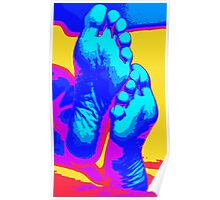 Happy beach feet Poster