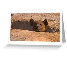 Hyena den Greeting Card