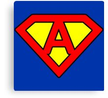 A letter in Superman style Canvas Print