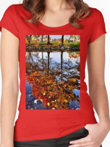 Boston, Fall Reflection  Women's Fitted Scoop T-Shirt