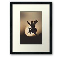 Grasshopper Silhouette Framed Print
