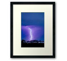 Lightning Strike - City Lights - Jett  II Color Framed Print