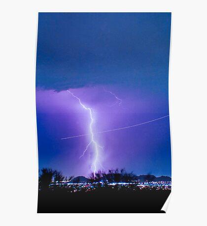 Lightning Strike - City Lights - Jett  II Color Poster