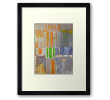 block 2 Framed Print
