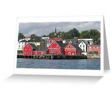 Lunenburg Nova Scotia Greeting Card