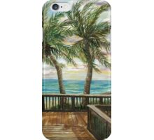 Boardwalk with Two Palms iPhone Case/Skin