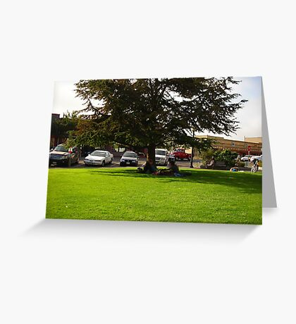 Grassy green Park Greeting Card